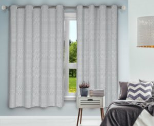 Cortina Blackout Eclipse PVC Estampado 280x250 Chevron - Izaltex