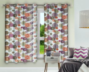 Cortina Blackout Eclipse PVC Estampado 280x230 Mandalas - Izaltex