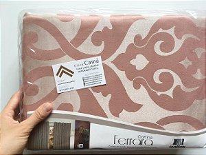 Cortina Ferrara Jacquard 560x230 Zurique Rosê - Izaltex