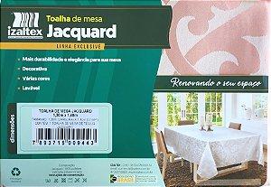 Toalha de Mesa Jacquard 4 Lugares 130x140 Zurique Rosê - Izaltex