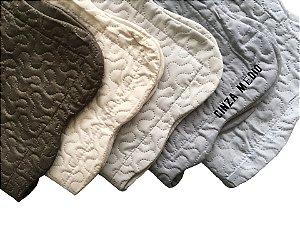 Porta Travesseiro Matelado Ultrasonic Dyuri 50x70 Cinza Médio - Jolitex