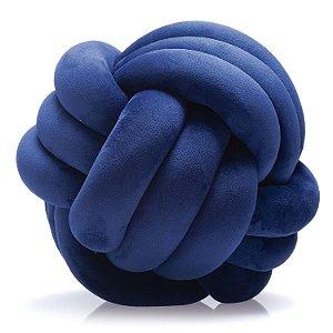 Almofada de Nó Escandinavo Gomo Triplo 27cm Azul Marinho - Jolitex