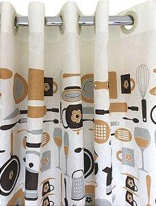 Cortina de Cozinha Luiza 280x120 Gourmet - Izaltex