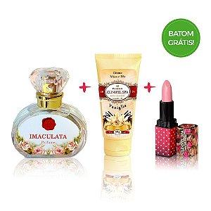 Perfume Imaculata+ Creme de mãos Vaniglia + Batom Grátis