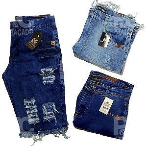 Kit 50 Bermudas Jeans Masculinas