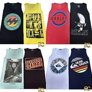 Kit 12 Camisetas Regata - 100% Alg. Fio 30.1