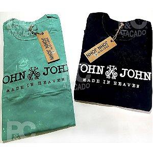 Kit 6 Camisetas Estonadas Lavadas - 100% Alg. Fio 26.1