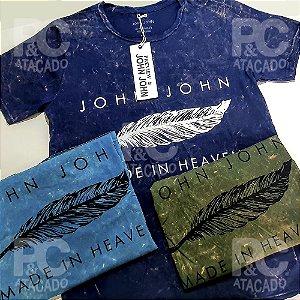 Kit 25 Camisetas Estonadas Lavadas - 100% Alg. Fio 26.1