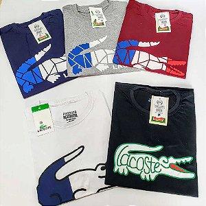 Kit 6 Camisetas Masculinas Estampadas Fio 26.1