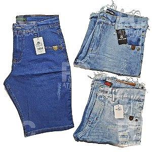 Kit 100 Bermudas Jeans Masculinas