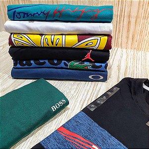 Kit 20 Camisetas Variadas Atacado Fio 30.1 Premium