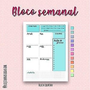 Bloco planner semanal (6 meses)
