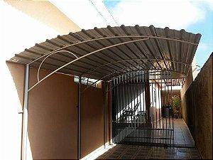 Garagem em Zinco Telha Galvanizada Curva Clássica