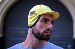 Boné ciclismo Orla com abas Amarelo