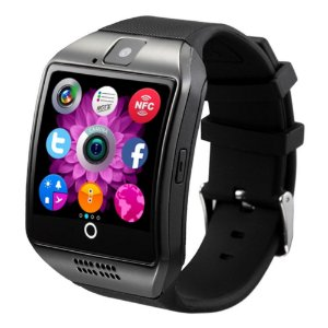 Relógio Smartwatch Bluetooth Q18 Desbloqueado Android Chip Touch Preto
