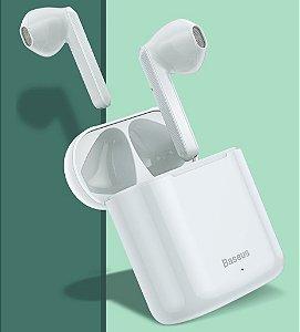 Fone Sem Fio Baseus Encok W09 TWS - Bluetooth 5.0 - Branco Novo 2020