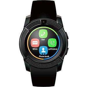 Relógio Inteligente Smartwatch V8 Suporte/Cartão Câmera NOVO