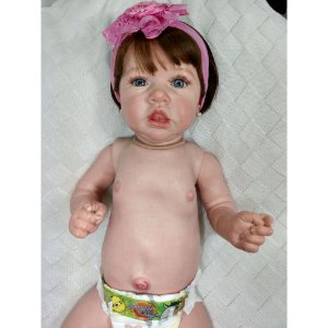 Bebê Reborn Corpo Todo Vinil Silicone Saskia Realista Infantil Presente Doll Artesanato