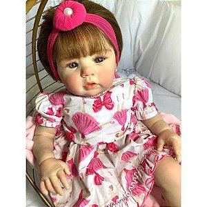Bebê Reborn Realista Corpo Vinil e Pano Abigail Infantil Presente Doll Artesanato