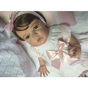 Bebê Reborn Corpo Todo Vinil Silicone Ana Clara Realista Infantil Presente Doll Artesanato