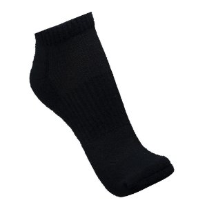 MEIA DE CANO CURTO COTTON AIR ANKLE SOLO PRETO - KIT 2 PARES