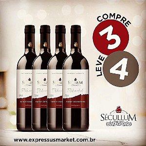 Compre 3 e Leve 4 Garrafas de Vinhos Sécullum Titularidade Tannat Gran Reserva