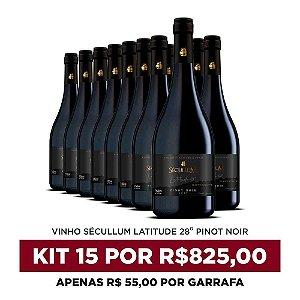 Kit c/15 Garrafas de Vinhos Sécullum Pinot Noir - Latitude 28°