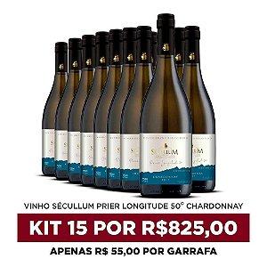 Kit c/15 Garrafas de Vinhos Sécullum Chardonnay Reserva Seco