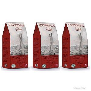 Kit com 3 embalagens de Café Expressus Torrado e Moído Homenagem à São Paulo 250g