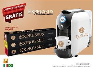 Máquina de Café em Cápsulas Expressus Italianíssima + 100 Cápsulas Linha Nações