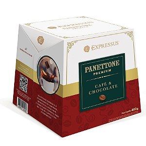 Expressus Panettone Premium Café e Chocolate 400g.