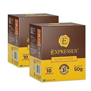 Kit C/20 Cápsulas de Café Expressus Origens Brasileiras Blend Cítrico