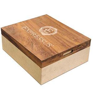Kit Presente Caixa de Madeira Tipo Bandeja Personalizada