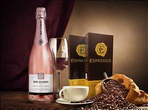 Kit 20 Cápsulas de Café Expressus - Blend Cítrico + 1 Espumante Moscatel Rosé Don Guerino