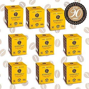 Kit C/90 Cápsulas de Café Expressus Biodegradável Intenso