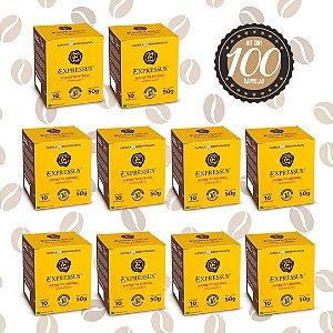 Kit C/100 Cápsulas de Café Expressus Biodegradável Intenso