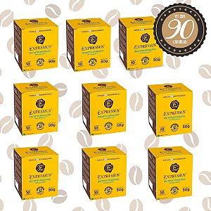 Kit C/90 Cápsulas de Café Expressus Biodegradável Brasileiro