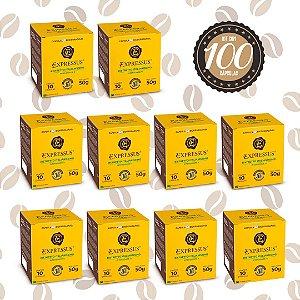 Kit C/100 Cápsulas de Café Expressus Biodegradável Italianíssimo