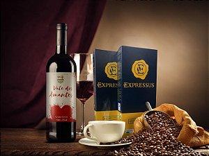 Kit 20 Cápsulas de Café Expressus - Blend Orgânico + 1 Vinho Vale dos Amantes 2018
