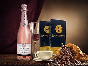 Kit 20 Cápsulas de Café Expressus - Blend Orgânico + 1 Espumante Moscatel Rosé Don Guerino