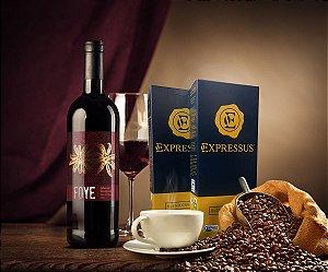 Kit 20 Cápsulas de Café Expressus - Blend Orgânico + 1 Vinho Foye Cabernet Sauvignon 2014