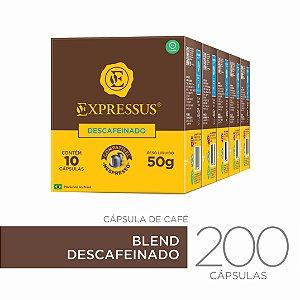 Kit c/200 Cápsulas de Café Origens Brasileiras Blend Descafeinado