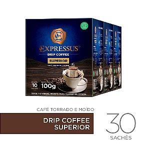 Kit c/30 Sachês de Café Drip Coffee - Blend Superior