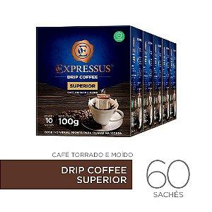 Kit c/60 Sachês de Café Drip Coffee - Blend Superior