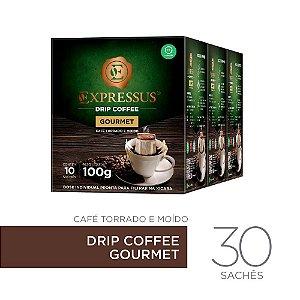 Kit c/30 Sachês de Café Drip Coffee - Blend Gourmet