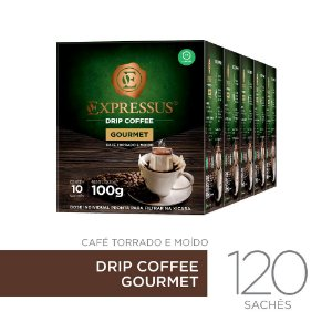 Kit c/120 Sachês de Café Drip Coffee - Blend Gourmet