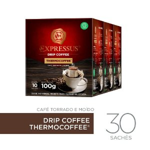 Kit c/30 Sachês de Café Drip Coffee - Blend Thermocoffee