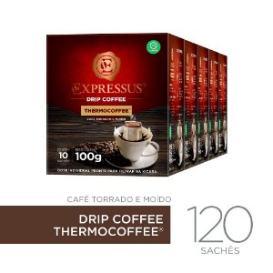 Kit c/120 Sachês de Café Drip Coffee - Blend Thermocoffee