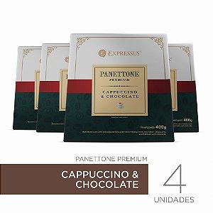 Kit c/4 Caixas de Panettone Expressus Premium - Cappuccino & Chocolate