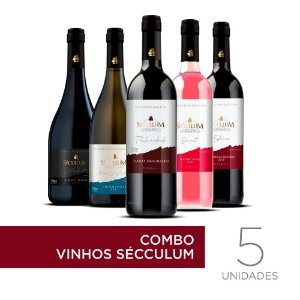 Kit c/5 Garrafas de Vinhos Sécullum Reserva